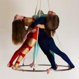 Frau ` s Trio auf Luftglanz Lizenzfreie Stockfotos