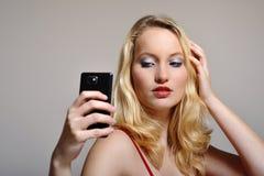 Frau selfie Lizenzfreies Stockbild
