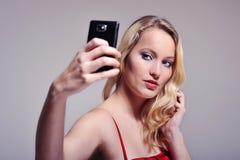 Frau selfortrait Lizenzfreie Stockfotografie