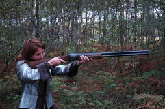 Frau shuting Lizenzfreies Stockfoto