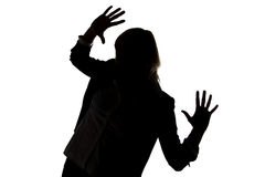 Frau sind verschlossen lizenzfreie stockbilder