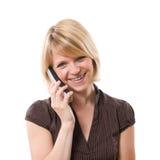 Frau am Telefon Stockbilder