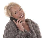 Frau am Telefon Stockfotografie