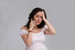 Frau am Telefon Lizenzfreies Stockfoto
