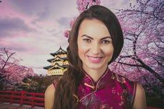 Frau trawel China stockbilder