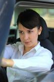 Frau treibt an Lizenzfreie Stockfotos