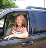 Frau und Auto Stockfotografie
