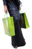 Frau und Einkaufstasche Lizenzfreies Stockfoto