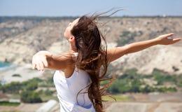 Frau und Freiheit Lizenzfreies Stockfoto