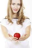 Frau und Frucht Lizenzfreies Stockfoto
