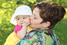 Frau und ihr Schätzchen Lizenzfreie Stockfotografie