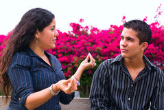 Frau und Jugendlicher Lizenzfreie Stockfotos