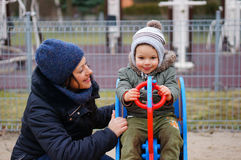 Frau und Kind Stockfoto
