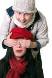 Frau und Kind, die Spaß haben lizenzfreie stockfotos