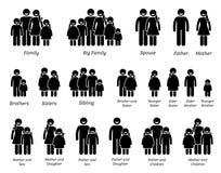 Frau und Mädchen von verschiedenen Körper-Größen und von Höhen-Ikonen Lizenzfreies Stockfoto