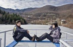 Frau und Mann Lizenzfreies Stockfoto