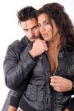 Frau und Mann umfaßt stockbild