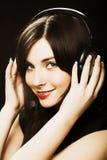 Frau und Musik Lizenzfreie Stockfotografie
