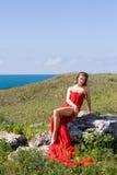 Frau und Natur Lizenzfreies Stockfoto