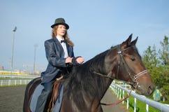 Frau und Pferd Lizenzfreies Stockbild
