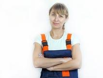 Frau und Reparatur Lizenzfreie Stockfotos