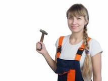 Frau und Reparatur Lizenzfreies Stockfoto