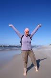 Frau und Strand Lizenzfreies Stockfoto