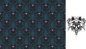 Frau-und Tätowierung Muster Stockbild