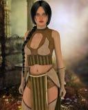 Frau in unscharfem Hintergrund Stockfoto