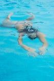 Frau Unterwasser Lizenzfreies Stockbild