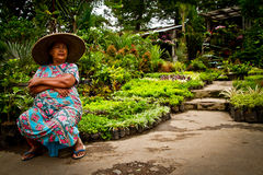 Frau von Malang, Indonesien Stockfotografie