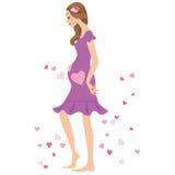 Frau von, schwangere Frau Stockbilder