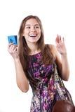 Frau während des Einkaufens lizenzfreie stockfotos