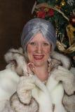 Frau Weihnachtsmann Stockfoto