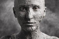 Frau wie eine Statue lizenzfreies stockbild
