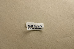 Fraud. Picture of a word fraud Royalty Free Stock Photo