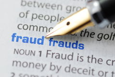 Fraud Stock Image