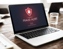 Fraud Alert Caution Defend Guard Notify Protect Concept Stock Images