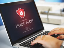 Free Fraud Alert Caution Defend Guard Notify Protect Concept Stock Images - 84455694