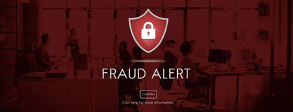 Fraud Alert Caution Defend Guard Notify Protect Concept Royalty Free Stock Photography