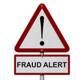 Fraud Alert Caution Sign Royalty Free Stock Photos