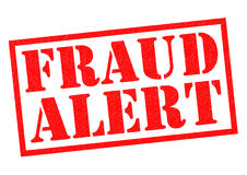 FRAUD ALERT. Red Rubber Stamp over a white background Stock Photo