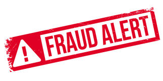 Fraud alert rubber stamp. Grunge design with dust scratches. Effects can be easily removed for a clean, crisp look. Color is easily changed Stock Images