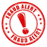 Fraud alert rubber stamp Royalty Free Stock Photography