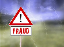 Fraud alert sign Royalty Free Stock Images
