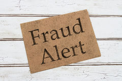 Fraud Alert Warning Card Royalty Free Stock Image