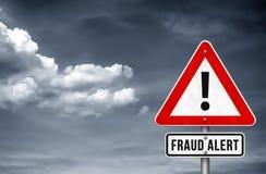 Free Fraud Alert Warning Sign Royalty Free Stock Photos - 129564358