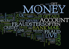 Fraud Beware Of The Fraudsters Word Cloud Concept stock illustration