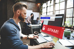 Fraud Hacking Spam Scam Phising Concept Royalty Free Stock Photography