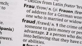 Fraud highlighted in pink Stock Photography